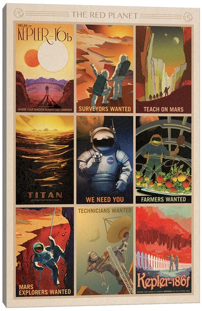 The Red Planet Canvas Art Print