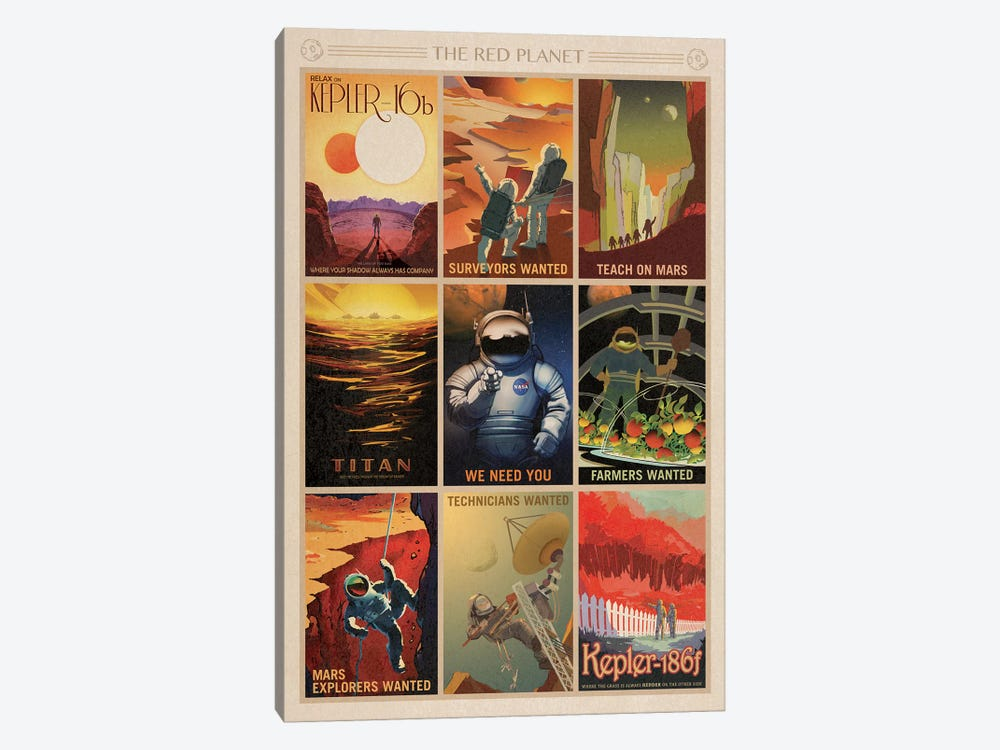 The Red Planet by NASA 1-piece Canvas Art
