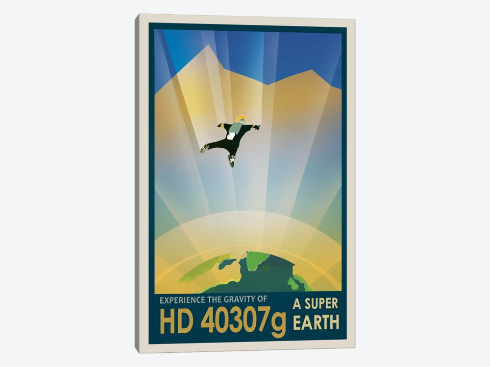 Visions Of The Future Series: HD 40307g by NASA 1-piece Canvas Wall Art