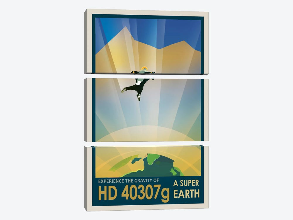 Visions Of The Future Series: HD 40307g by NASA 3-piece Canvas Artwork