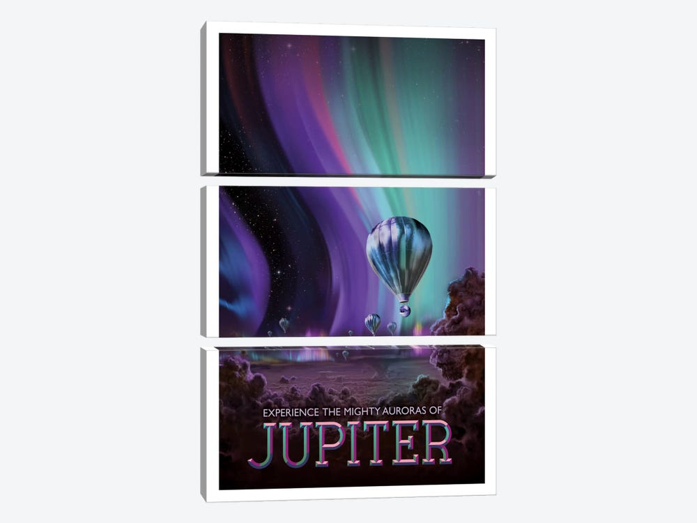 Jupiter by NASA 3-piece Art Print