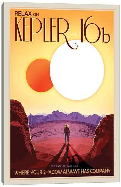 Kepler-16b Canvas Art Print