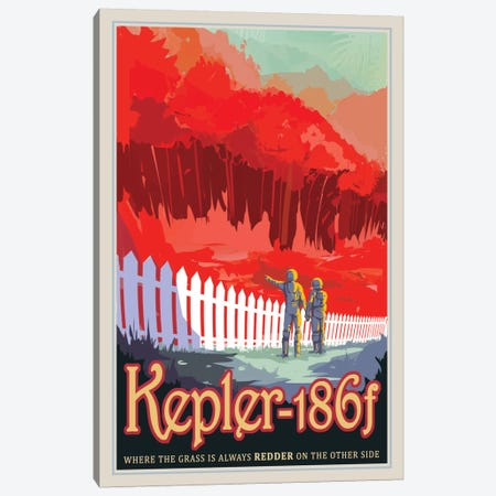 Kepler-186f Canvas Print #NAS9} by NASA Canvas Print
