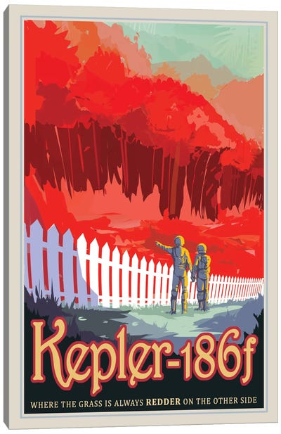 Visions Of The Future Series: Kepler-186f Canvas Art Print