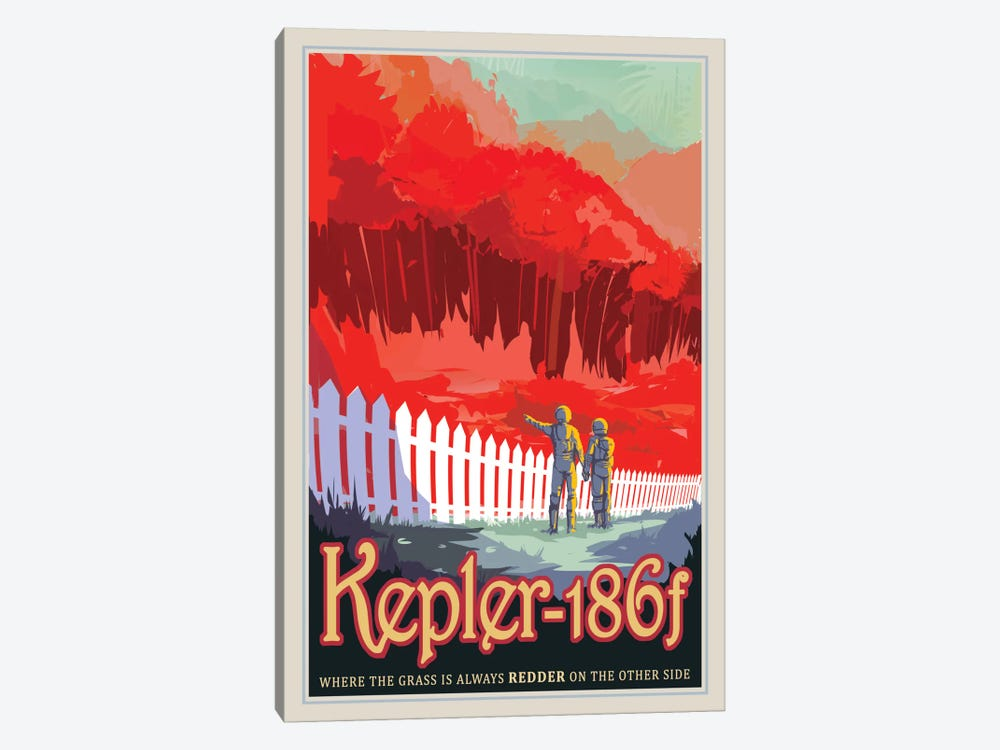 Visions Of The Future Series: Kepler-186f 1-piece Canvas Print
