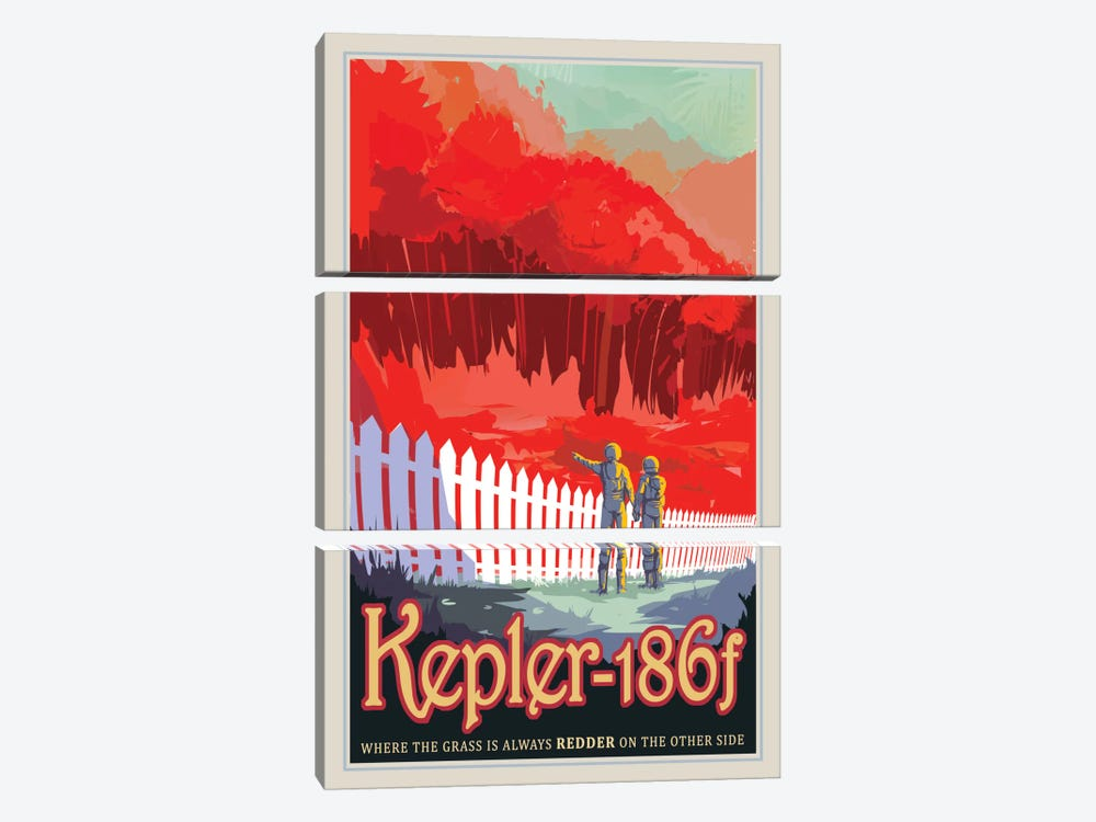 Visions Of The Future Series: Kepler-186f by NASA 3-piece Art Print