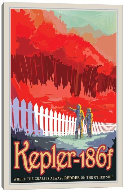 Kepler-186f Canvas Art Print