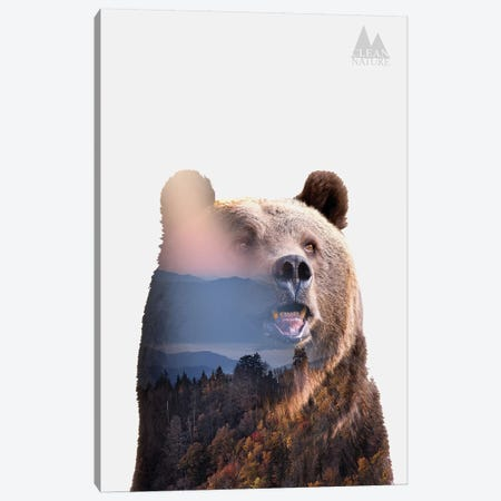 Bear Canvas Print #NAT1} by Clean Nature Canvas Wall Art