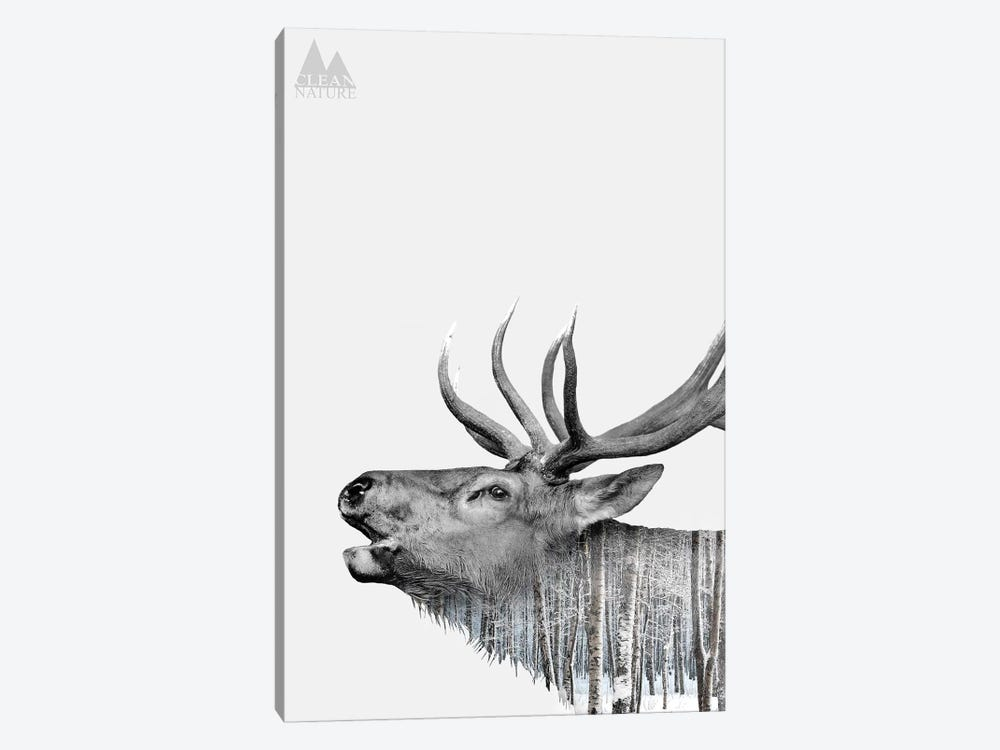 Deer by Clean Nature 1-piece Canvas Artwork