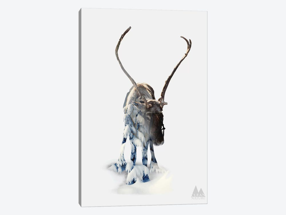 Moose by Clean Nature 1-piece Canvas Wall Art