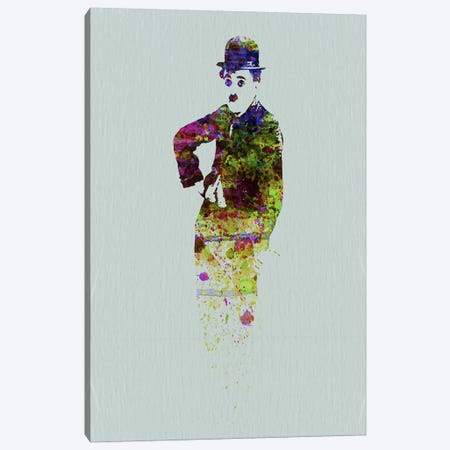 Charlie Chaplin II Canvas Print #NAX109} by Naxart Canvas Wall Art
