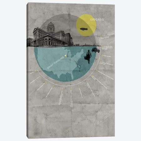 Chicago, A Brief Timeline Canvas Print #NAX127} by Naxart Art Print