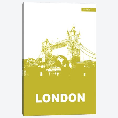 London, Est. 1625 Canvas Print #NAX130} by Naxart Canvas Print