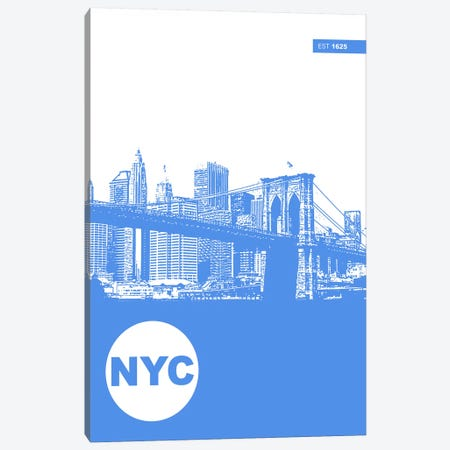 New York City, Est. 1625 Canvas Print #NAX131} by Naxart Canvas Print
