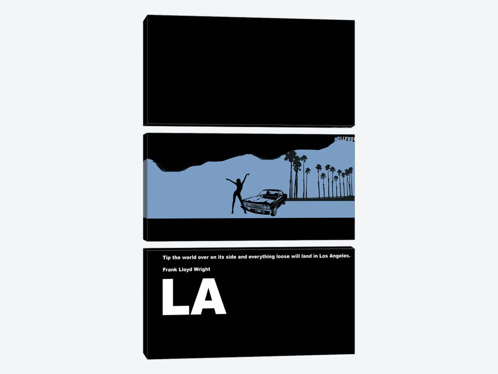 Everything Loose Will Land In Los Angeles by Naxart 3-piece Art Print
