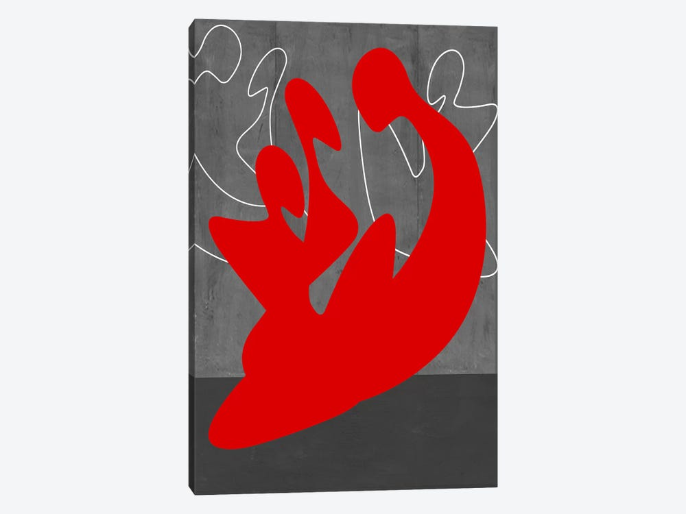 Red People by Naxart 1-piece Canvas Wall Art