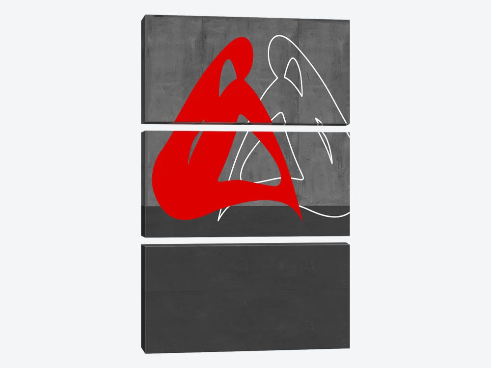 Red Woman by Naxart 3-piece Canvas Wall Art