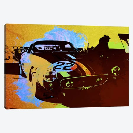 Ferrari Watercolor I Canvas Print #NAX140} by Naxart Canvas Artwork
