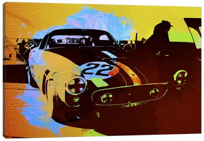 Ferrari Watercolor I Canvas Art Print