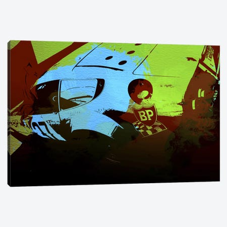 Ferrari Watercolor II Canvas Print #NAX141} by Naxart Canvas Art