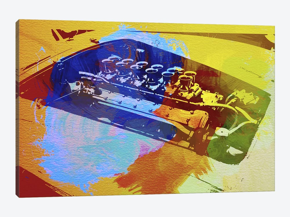 Ferrari Engine Watercolor by Naxart 1-piece Art Print