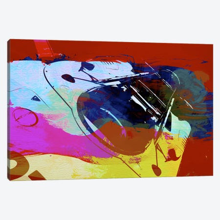 Porsche Watercolor Canvas Print #NAX144} by Naxart Canvas Art Print