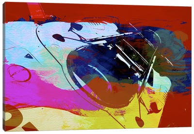 Porsche Watercolor Canvas Art Print