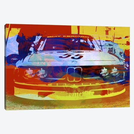 BMW Racing Watercolor Canvas Print #NAX149} by Naxart Canvas Art
