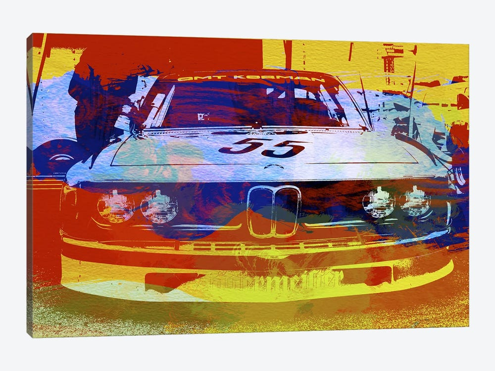 BMW Racing Watercolor by Naxart 1-piece Canvas Artwork