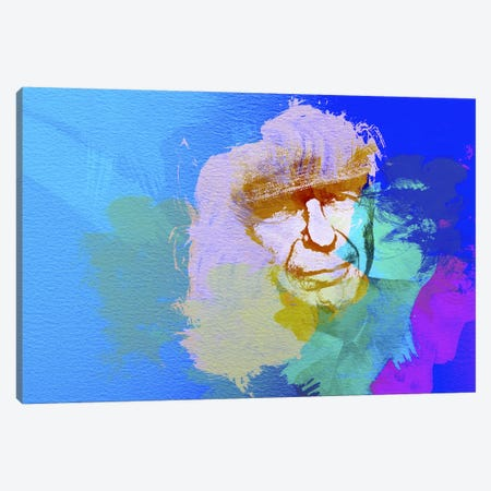 Leonard Cohen Canvas Print #NAX18} by Naxart Canvas Art