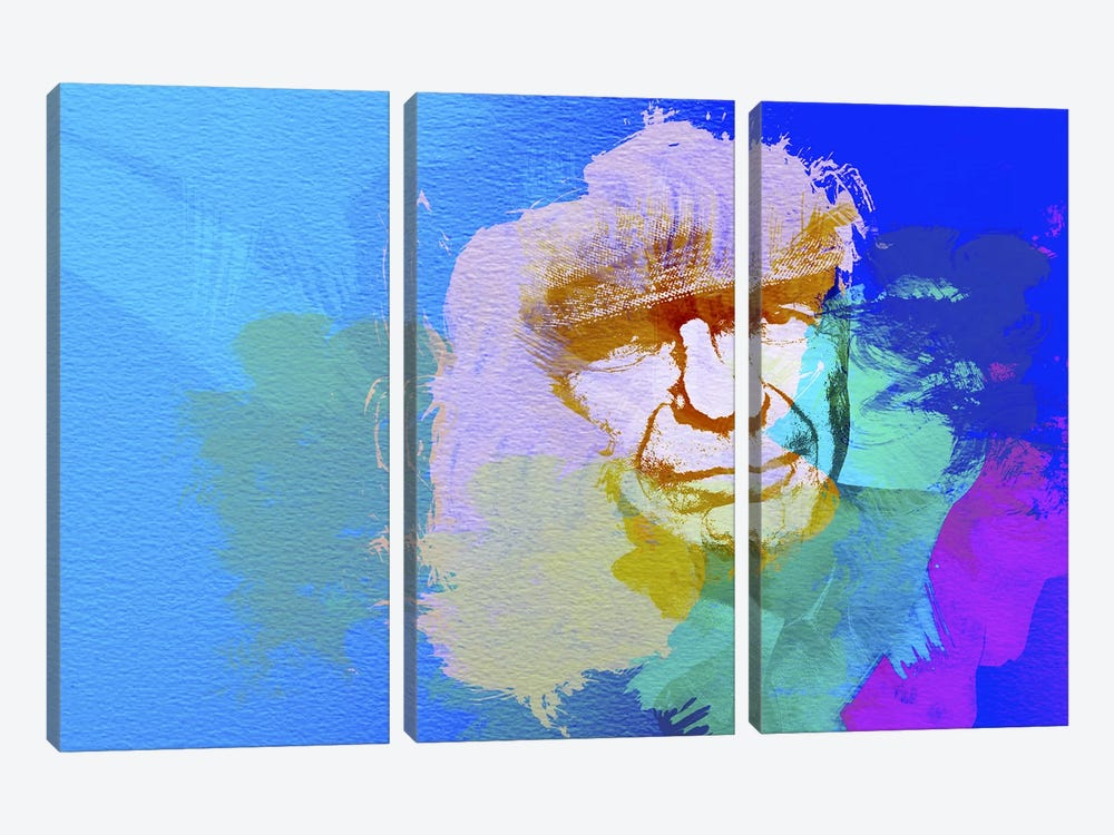 Leonard Cohen by Naxart 3-piece Canvas Art