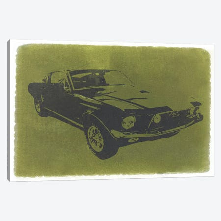1968 Ford Mustang Canvas Print #NAX214} by Naxart Art Print