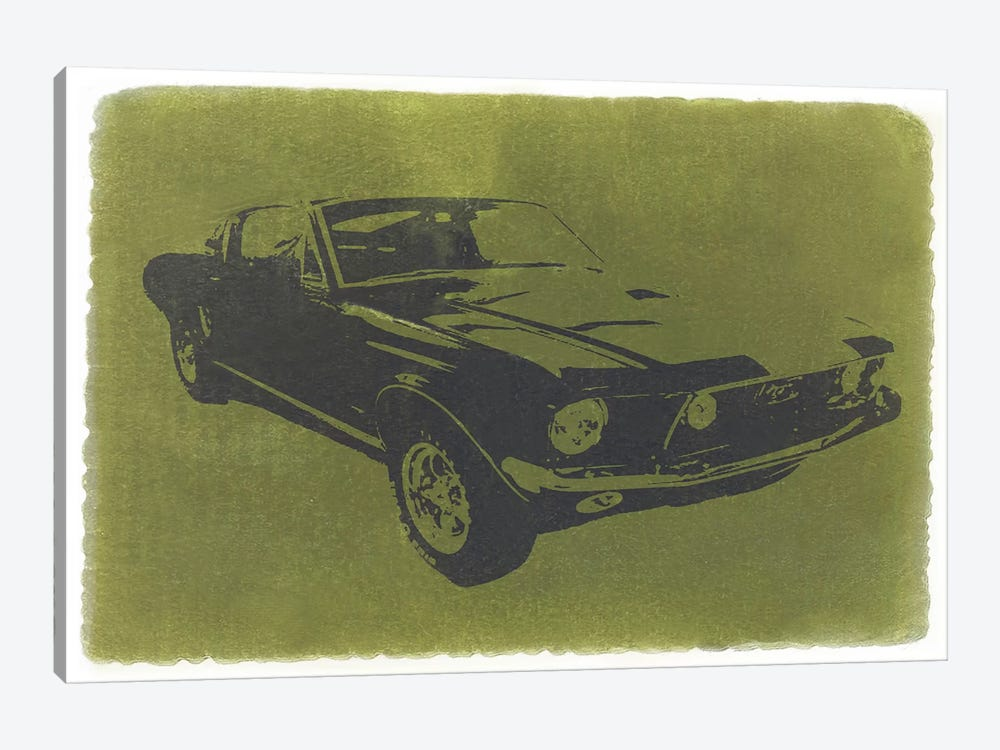1968 Ford Mustang by Naxart 1-piece Canvas Wall Art