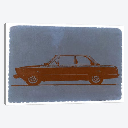 BMW 2002, Profile View Canvas Print #NAX221} by Naxart Canvas Art Print