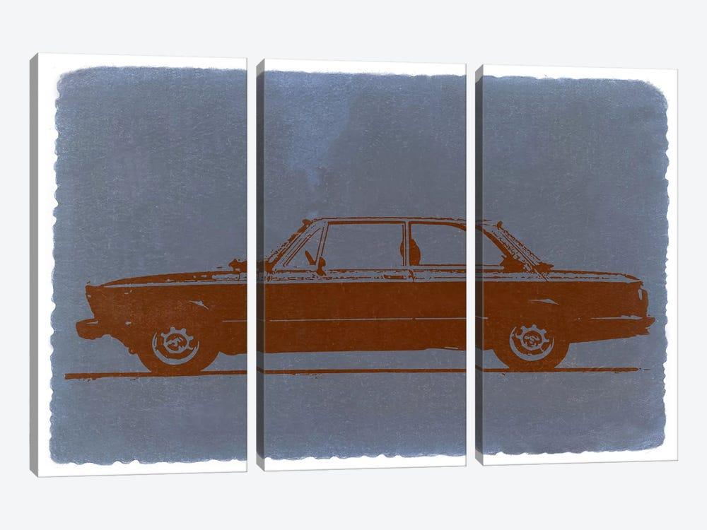 BMW 2002, Profile View by Naxart 3-piece Canvas Wall Art