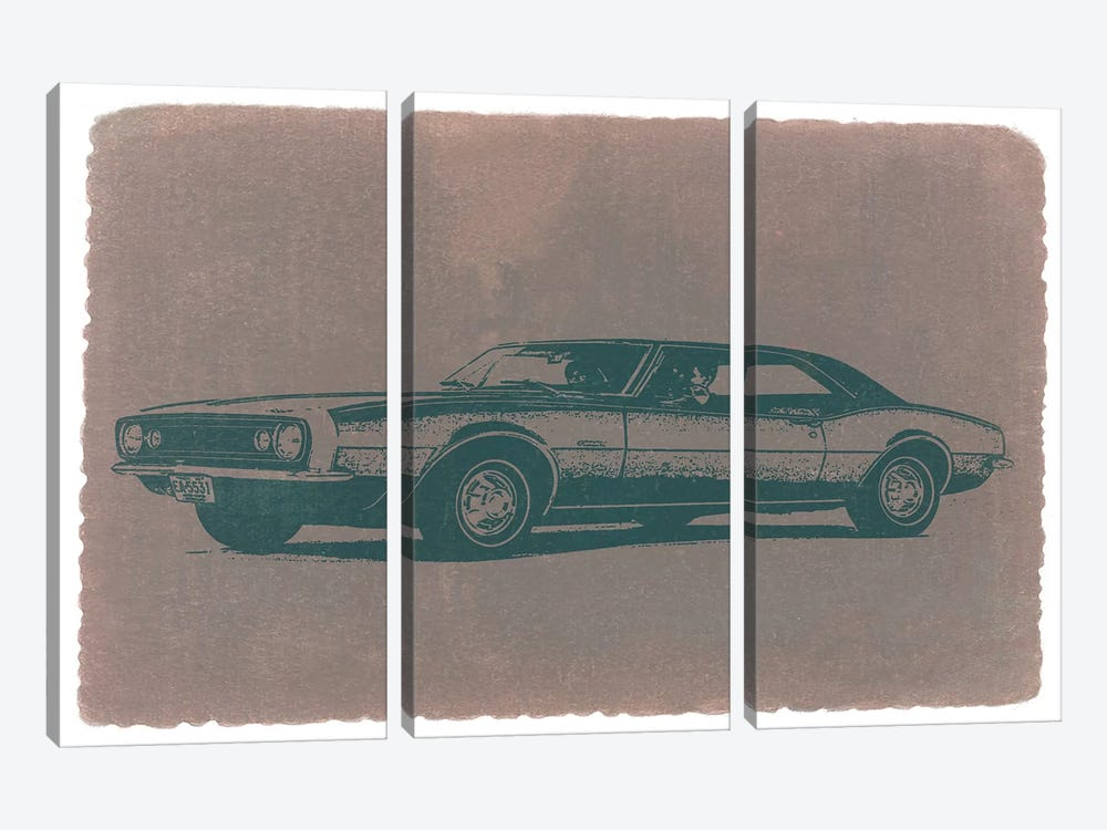 Chevrolet Camaro by Naxart 3-piece Canvas Wall Art