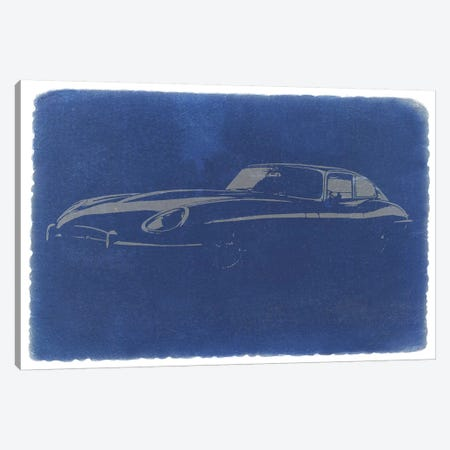 Jaguar E-Type (XK-E) Canvas Print #NAX230} by Naxart Canvas Artwork