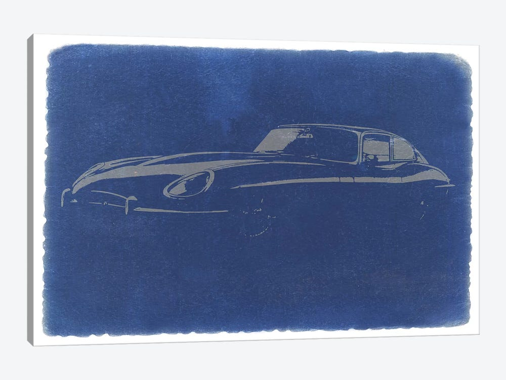 Jaguar E-Type (XK-E) 1-piece Canvas Artwork