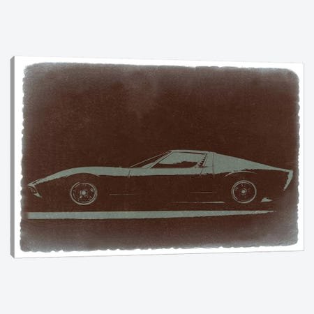 Lamborghini Miura Canvas Print #NAX233} by Naxart Canvas Art