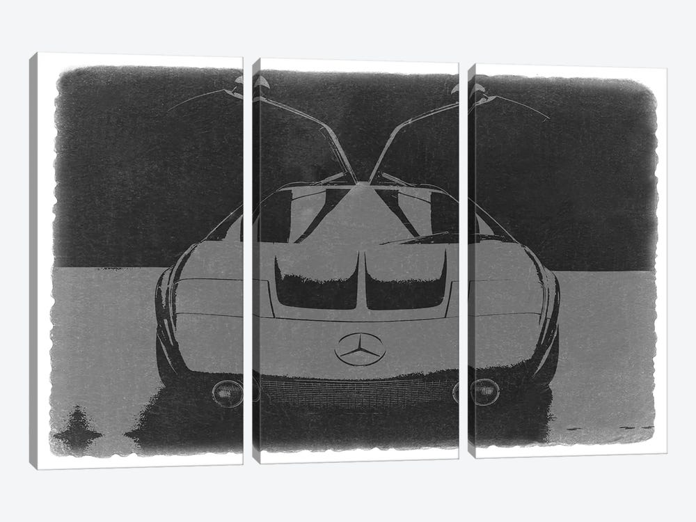 MERCEDES BENZ C III CONCEPT by Naxart 3-piece Canvas Wall Art