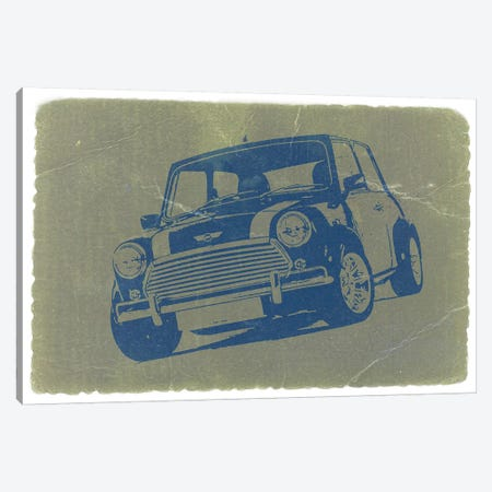Mini Cooper Canvas Print #NAX237} by Naxart Art Print