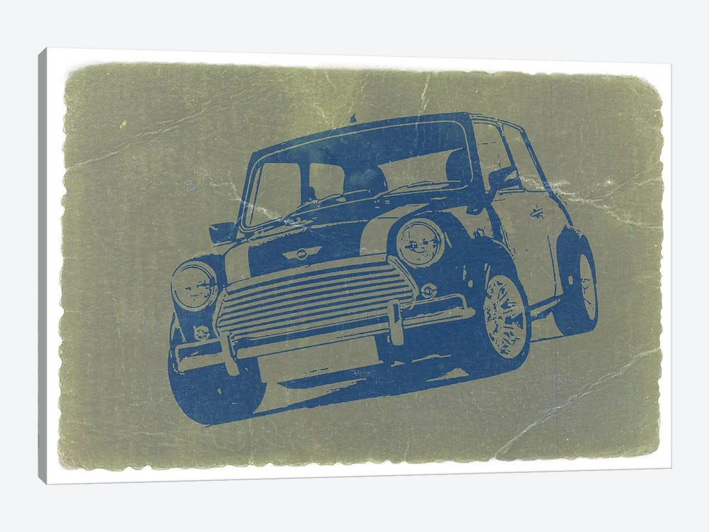 Mini Cooper by Naxart 1-piece Canvas Art Print