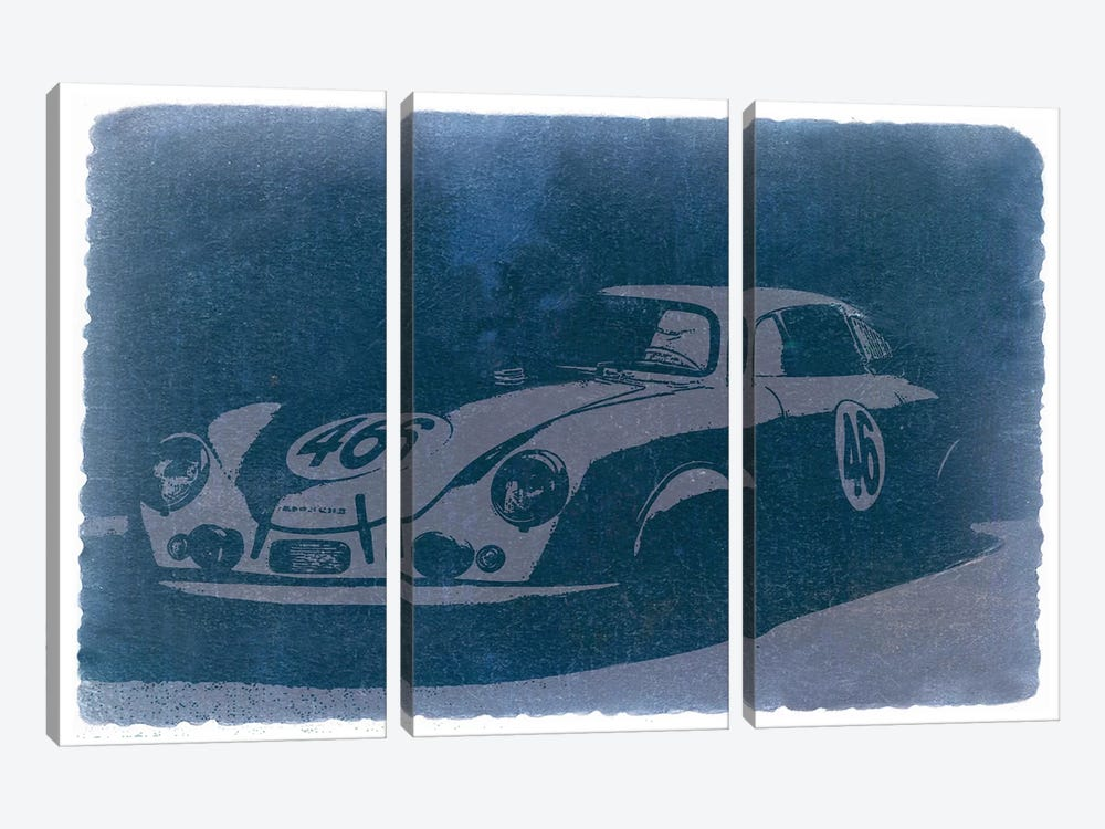 Porsche 356 by Naxart 3-piece Canvas Artwork