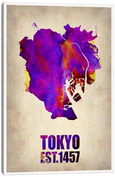 Tokyo Watercolor Map II Canvas Print #NAX264