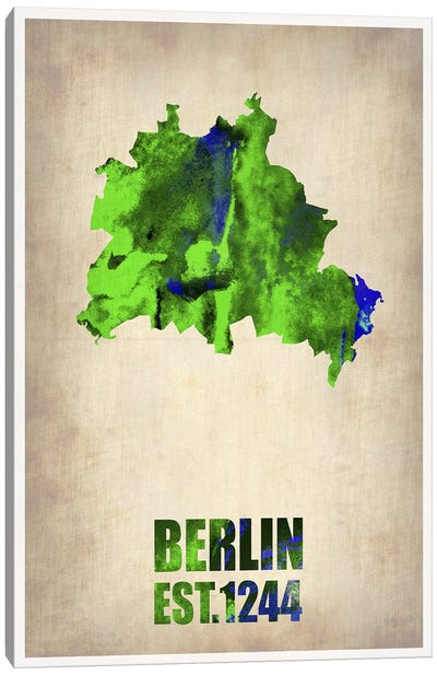 Berlin Watercolor Map Canvas Art Print