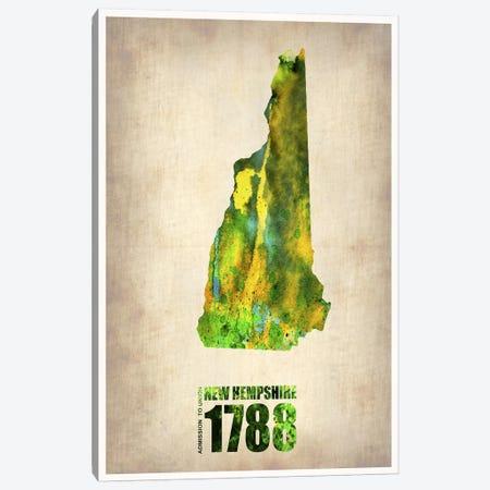 New Hampshire Watercolor Map Canvas Print #NAX274} by Naxart Canvas Art Print
