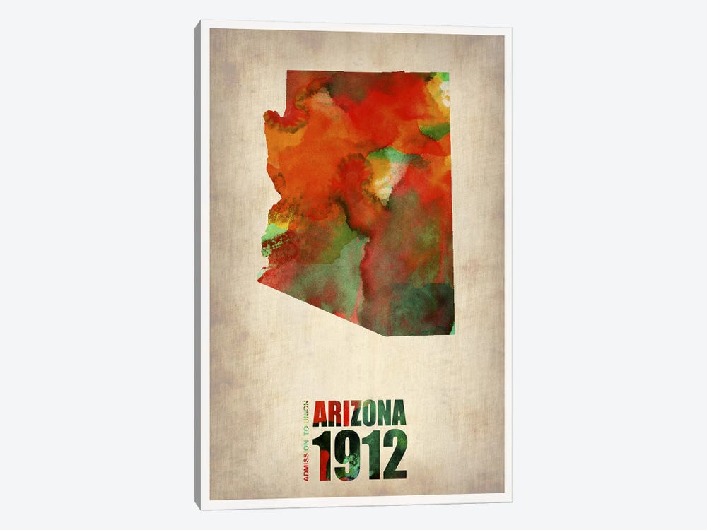 Arizona Watercolor Map by Naxart 1-piece Art Print