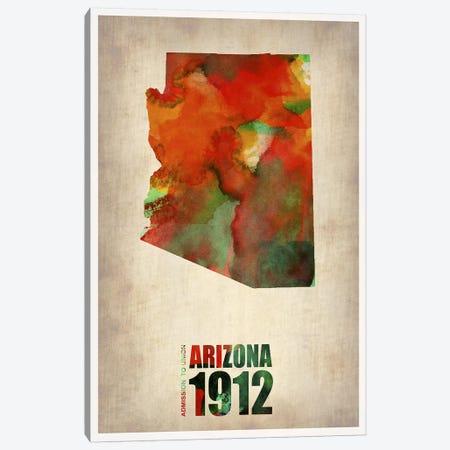 Arizona Watercolor Map Canvas Print #NAX277} by Naxart Canvas Print