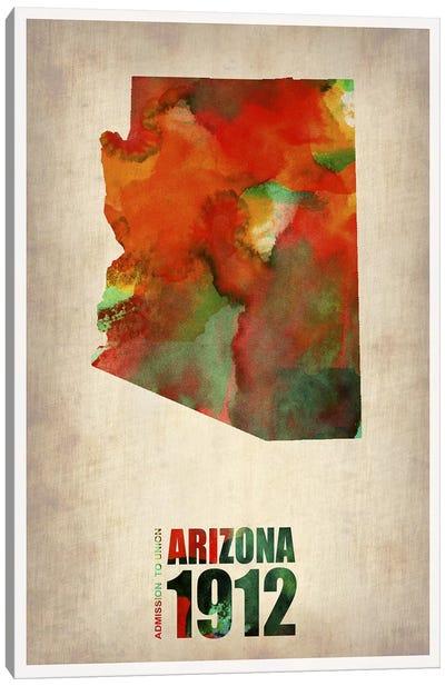 Arizona Watercolor Map Canvas Art Print