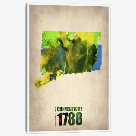 Connecticut Watercolor Map Canvas Print #NAX279} by Naxart Canvas Art